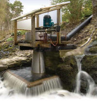 Hydroelectric turbine house - picture of home hydroelectricity turbines.