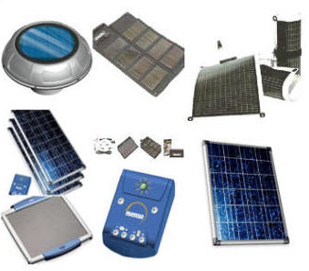 Pictures of solar panels, wind turbines and more...